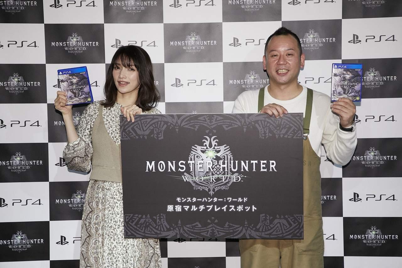 『モンスターハンター:ワールド』原宿マルチプレイスポット オープニングイベント開催レポート