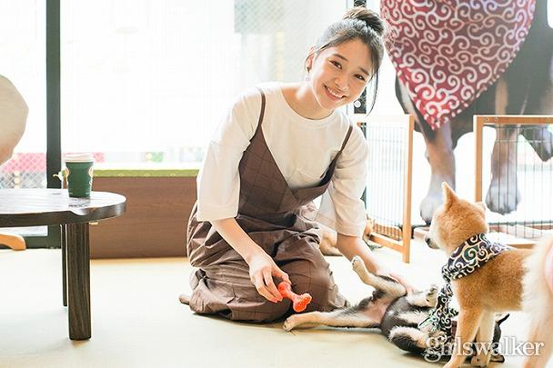 原宿ショッピングの〆にいかが?♡ 田鍋梨々花×東京唯一の豆柴カフェ〈Fashion Icon×TOKYO〉