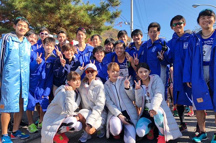 東海大の主力メンバーらと共に、丹沢湖ハーフマラソンにTGR初参戦!