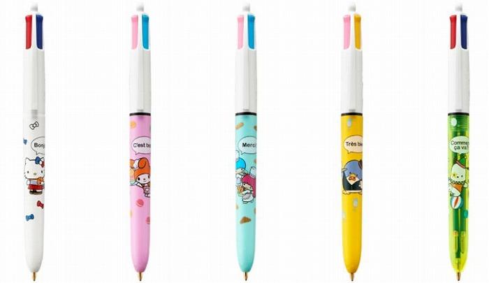 フレンチシックなサンリオキャラが大人可愛い♡4色コラボボールペンが発売に