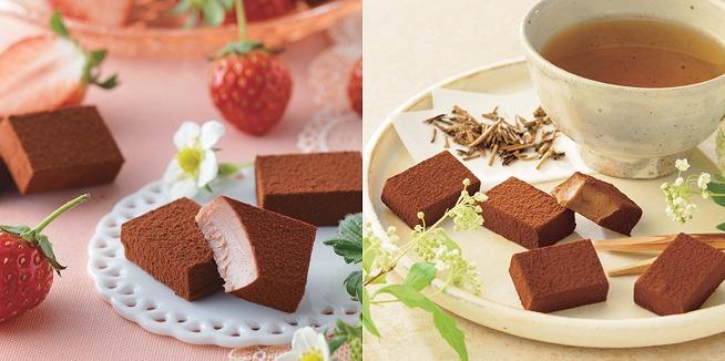 ロイズの期間限定生チョコが美味しそう…!苺とほうじ茶、どっちも気になる