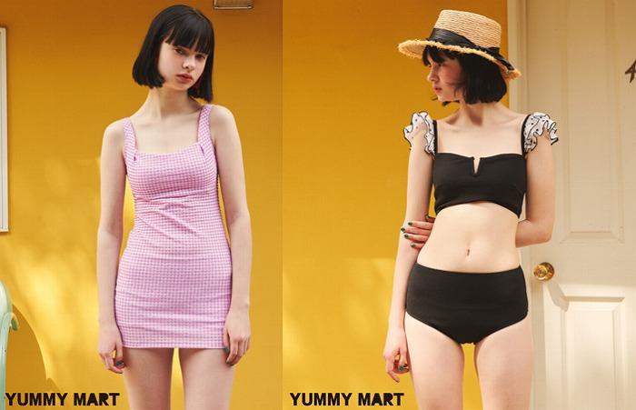 洋服っぽいレトロデザインに注目!YUMMY MARTの新作水着