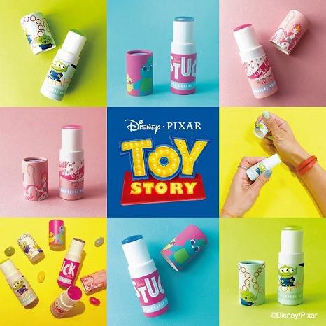 『トイ・ストーリー』のキャラクターが描かれた限定デザインの練り香水が登場♡
