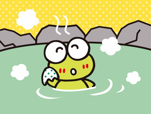 けろけろけろっぴの温泉に入ろう♪「極楽湯・RAKU SPA」でコラボキャンペーンを実施