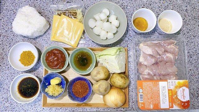 韓国なう_レシピ_タッカルビ_フライパン_材料