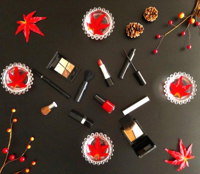 紅葉と化粧品