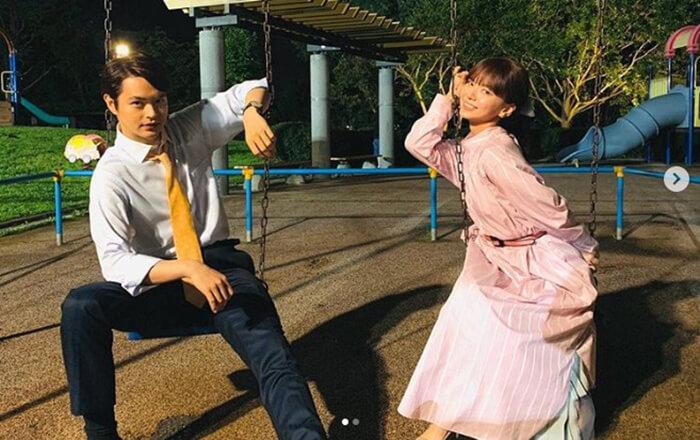 多部未華子&瀬戸康史『私の家政夫ナギサさん』インスタinstagramオフショット公園ブランコ