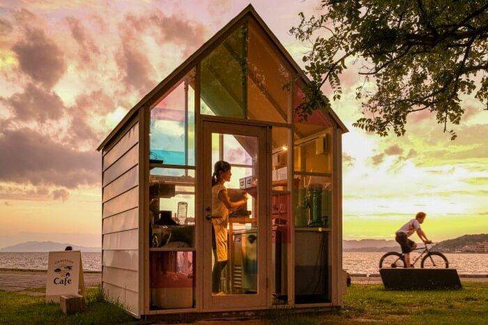 """空いてたらラッキー♥""""夕日がきれいな日""""の特別な時間のみオープンするカフェ"""