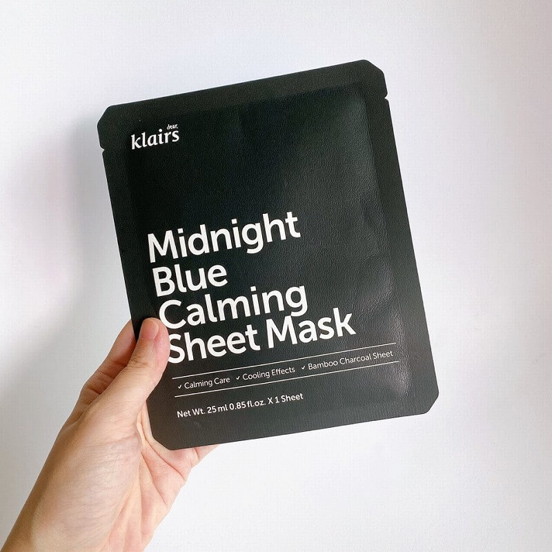Klairs_Midnight blue calming sheet mask_review1_MY K LIFE