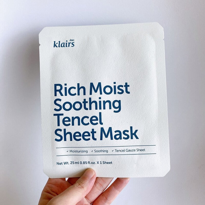 Klairs_rich moist soothing tencel sheet mask_review1_MY K LIFE