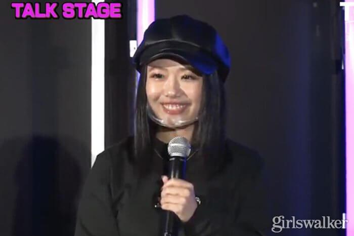 亀田姫月 TGCteen2020winter ランウェイ 親子ショット
