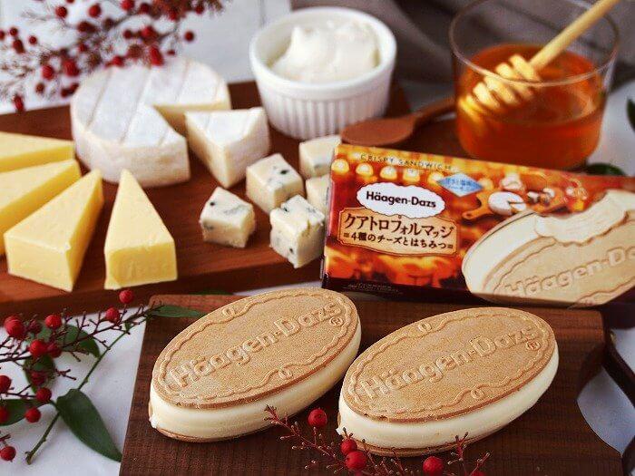 ハーゲンダッツ_クリスピーサンド_クアトロフォルマッジ_4種のチーズとはちみつ