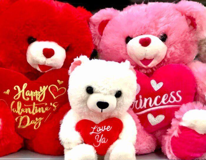 バレンタインに並ぶくま