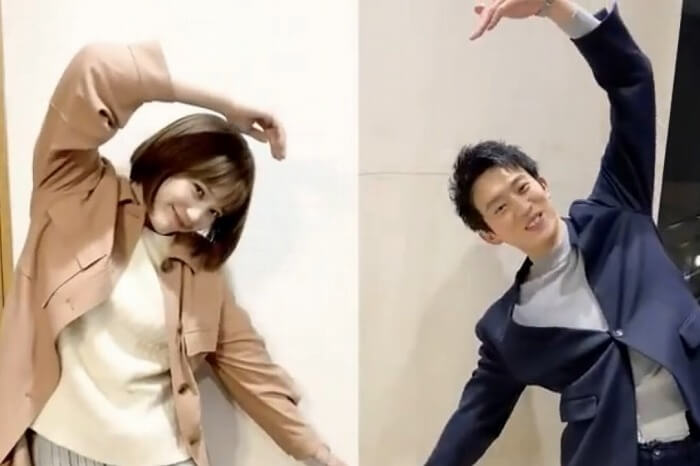 本田翼×杉野遥亮カップルが2人でハートマーク♡「キュンが止まらん」の声