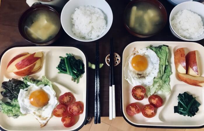 2人ぶんの朝食