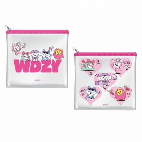 WDZYカフェ_ITZY_クリアポーチ 全2種 各1,400円(税抜)