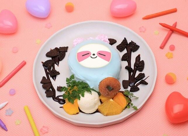 WDZYカフェ_ITZY_LYA チョコミントパンケーキ 1,600円(税抜)
